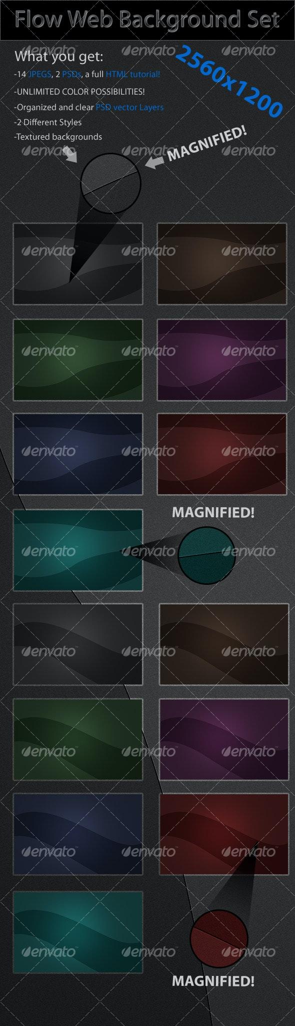 Flow Web Background Set - Backgrounds Graphics