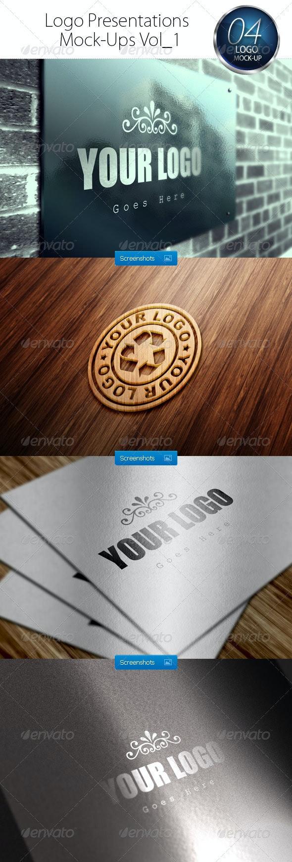 Logo Presentations Mock-Ups Vol_1 - Logo Product Mock-Ups