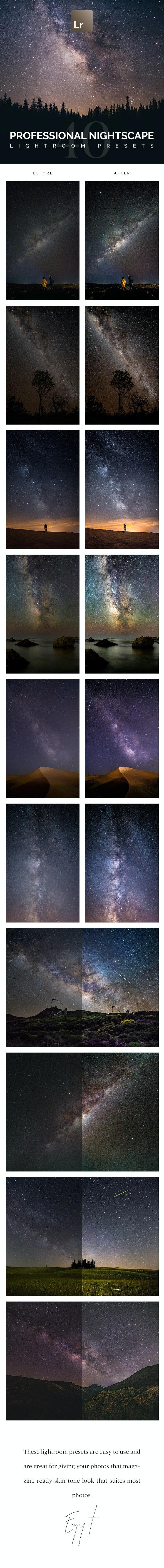 40 Professional Nightscape Lightroom Presets - HDR Lightroom Presets