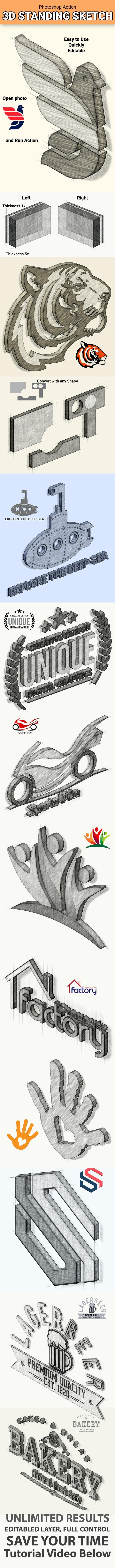 3D Standing Sketch - Utilities Actions