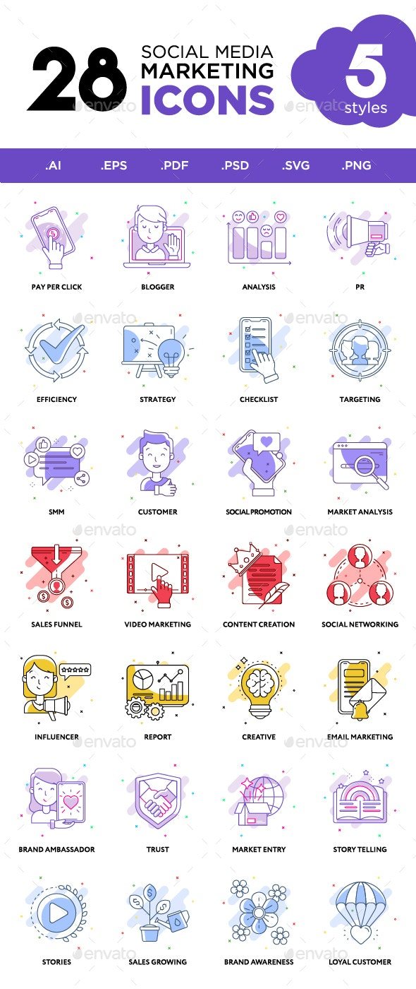 Social Media Marketing Icons - Business Icons