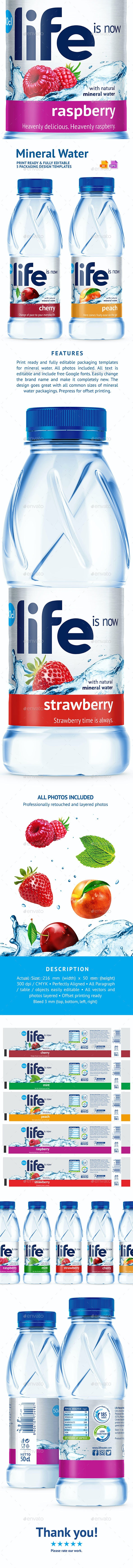 5 Mineral Water Packaging Design Templates - Packaging Print Templates