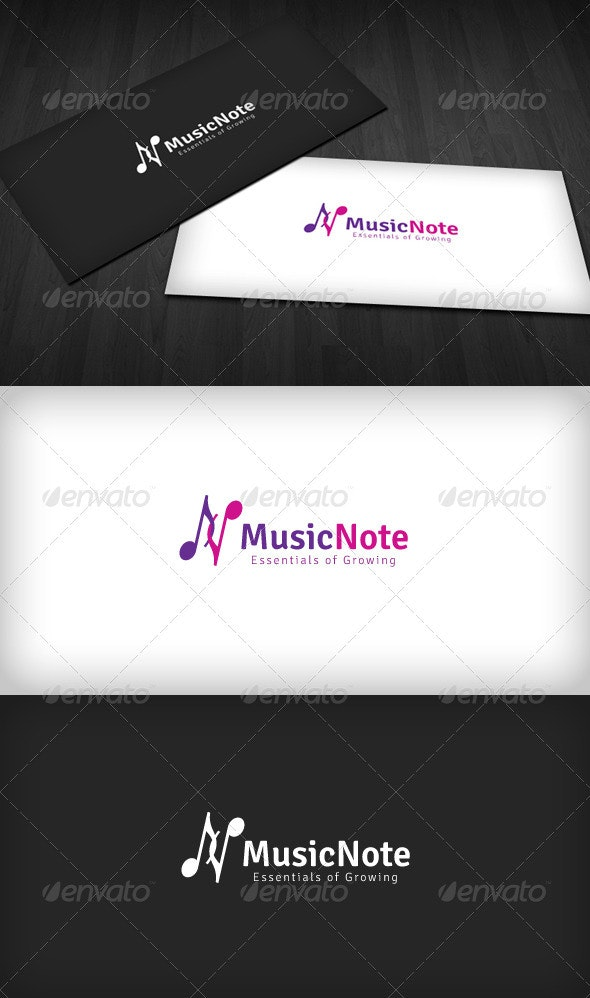 Music Note Logo - Letters Logo Templates