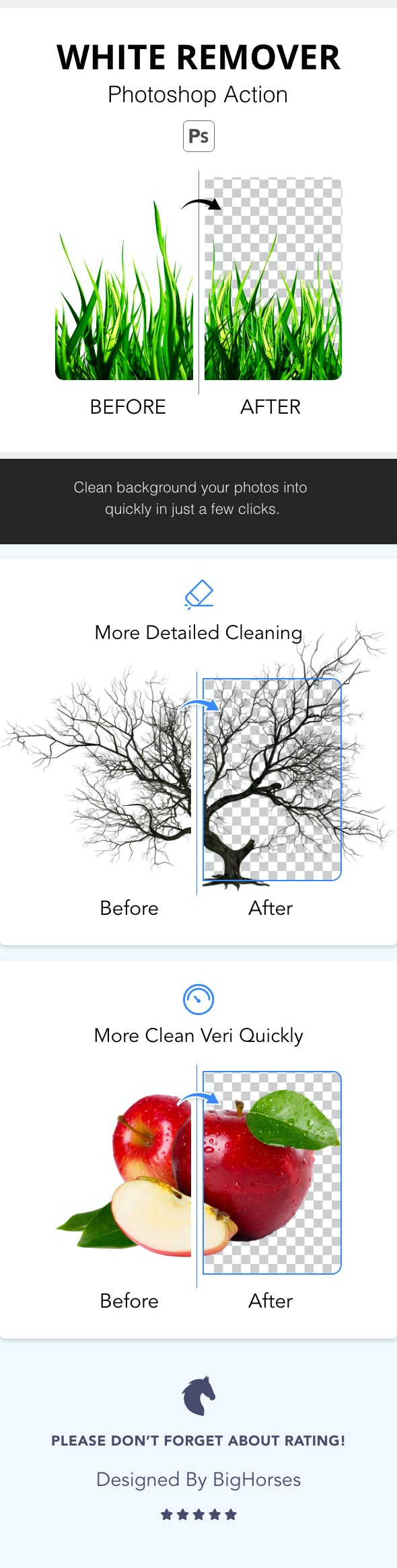 White Background Remover 2 - Photo Effects Actions