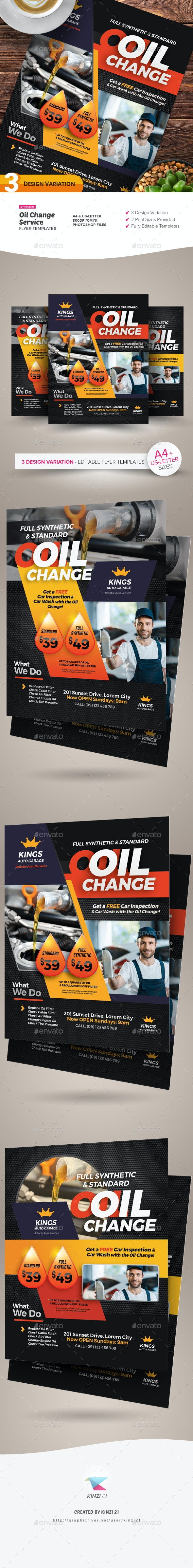 Oil Change Service Flyer Templates - Corporate Flyers