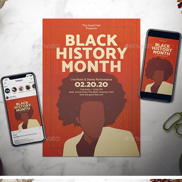 Black History Month Flyer Template from graphicriver.img.customer.envatousercontent.com