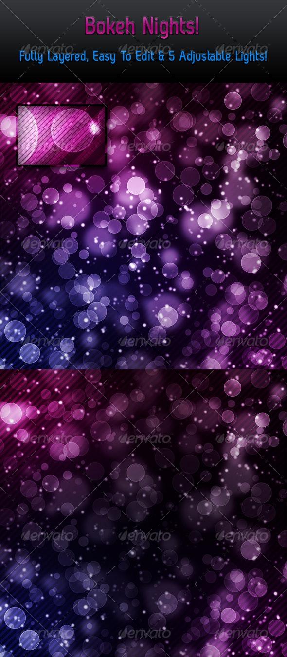 Bokeh Nights - Backgrounds Graphics