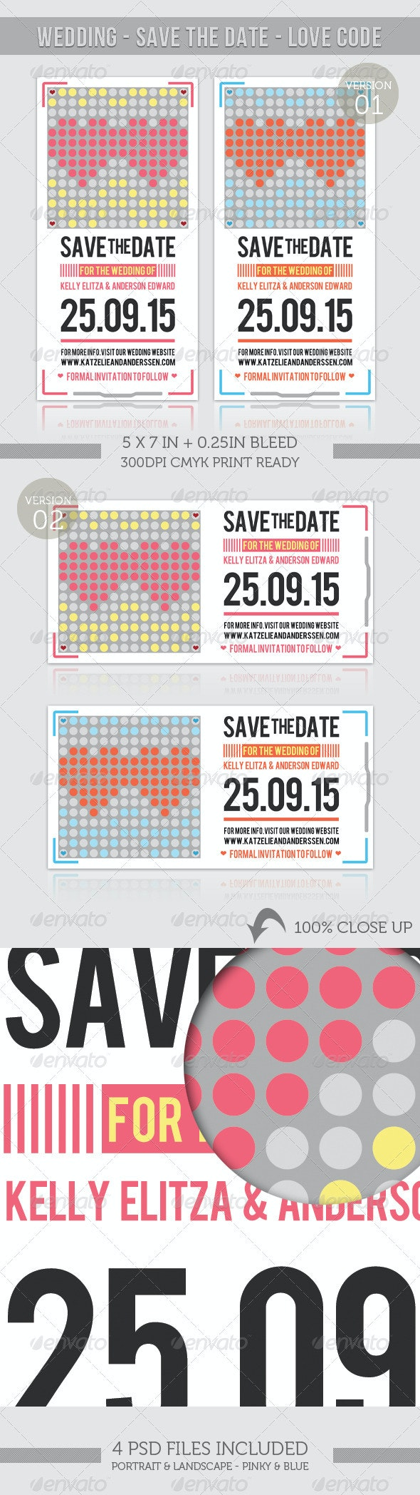 Wedding - Save The Date - Love Code - Weddings Cards & Invites