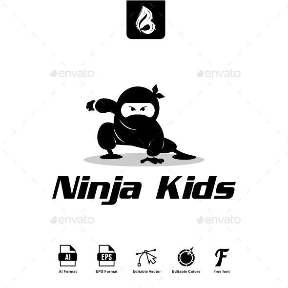 Ninja Kids Log - Ninja Logo