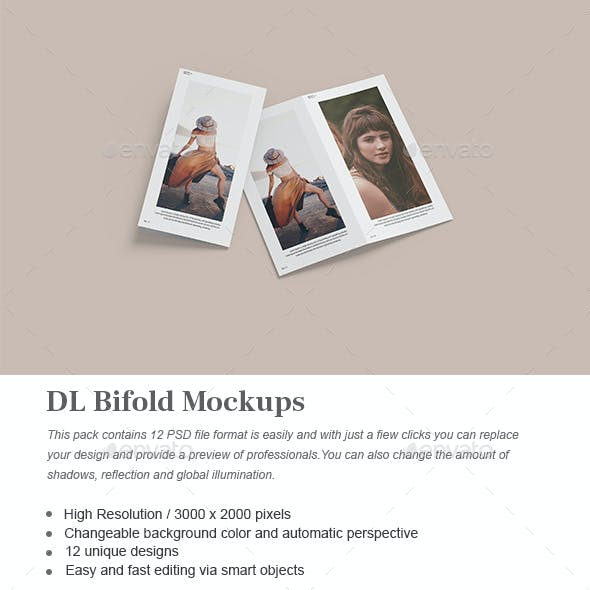 DL Bifold Mockups