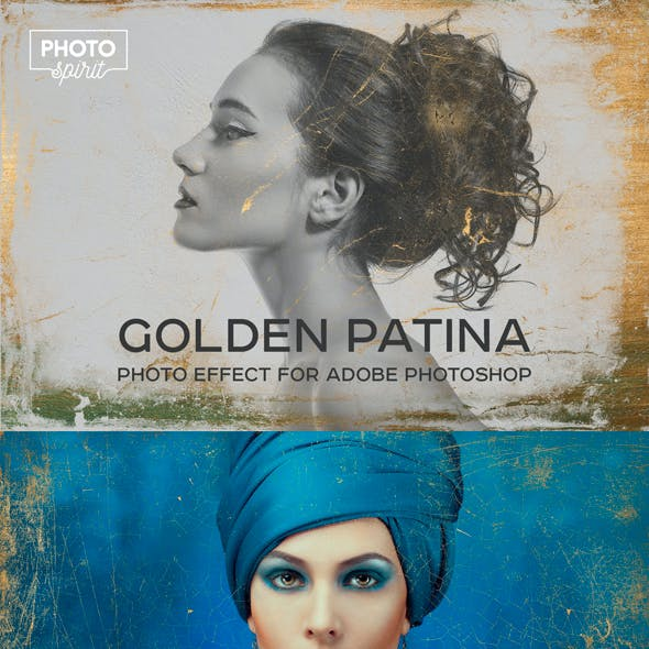 Golden Patina Photo Effect For Adobe Photoshop