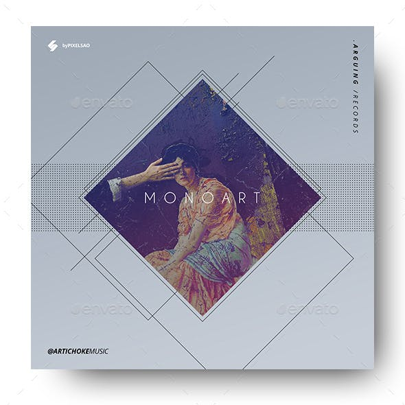 Monoart - Music Album Cover Artwork Template