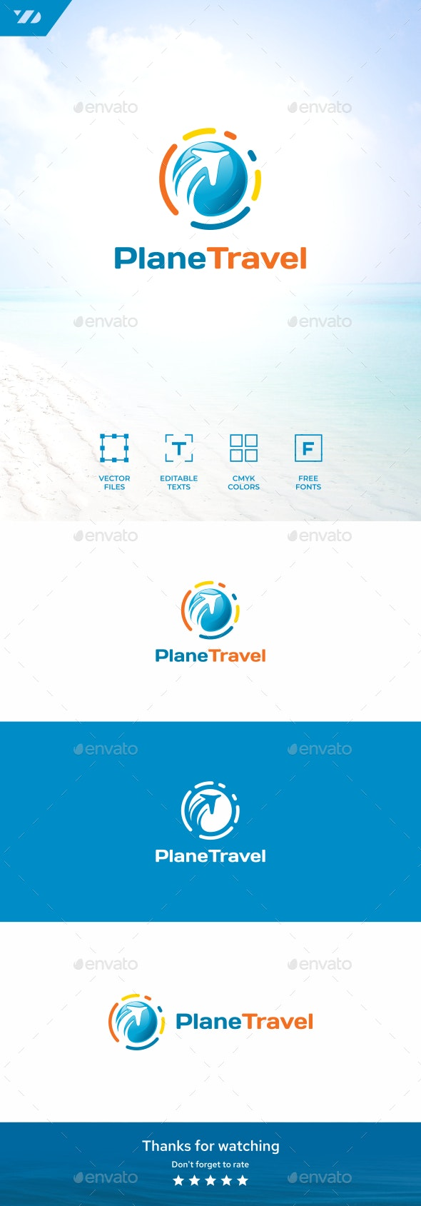 Travel Plane - Objects Logo Templates