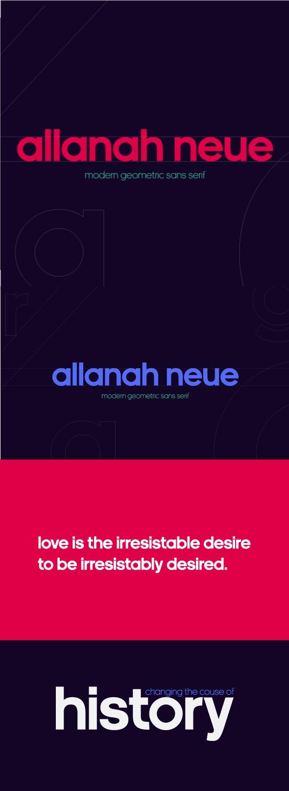 Allanah Neue Geometric Sans Serif Font - Miscellaneous Sans-Serif