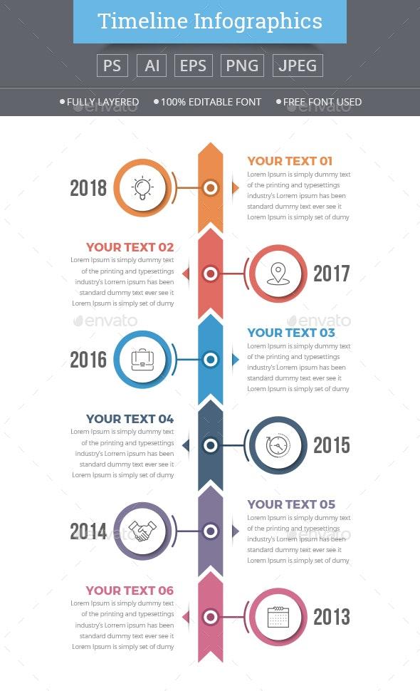 Modern Vertical Timeline Infographics - Infographics