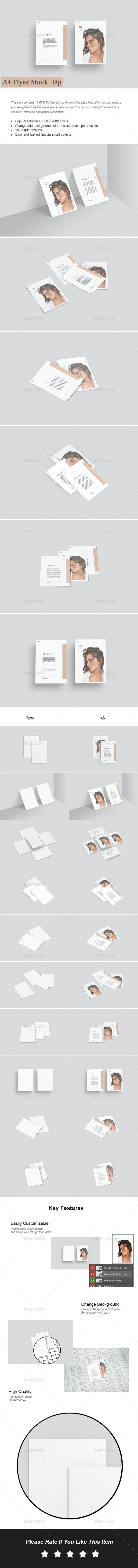 A4 flyer Mock-Up - Flyers Print