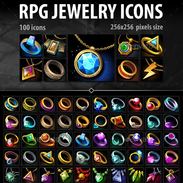 RPG Jewelry Icons