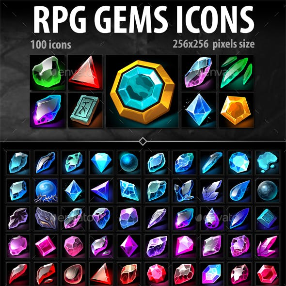 RPG Gems Icons