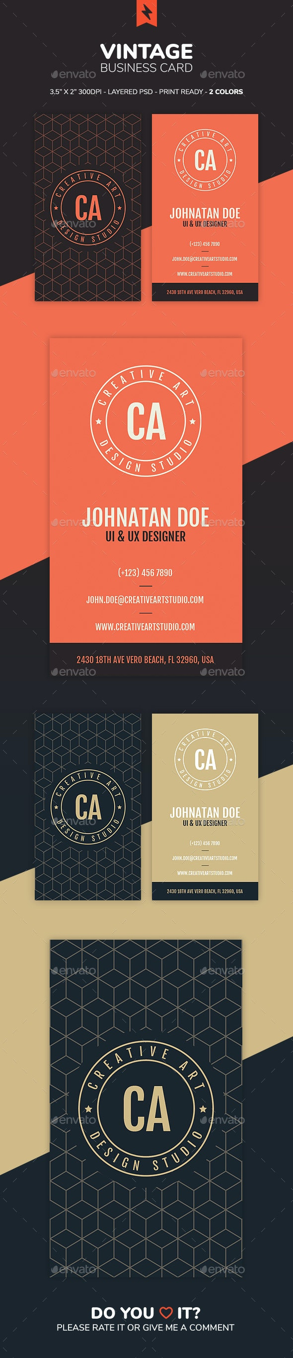 Vintage Business Card - Creative Business Cards