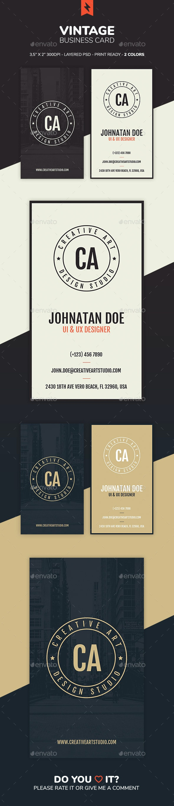 Vintage Business Card - Business Cards Print Templates