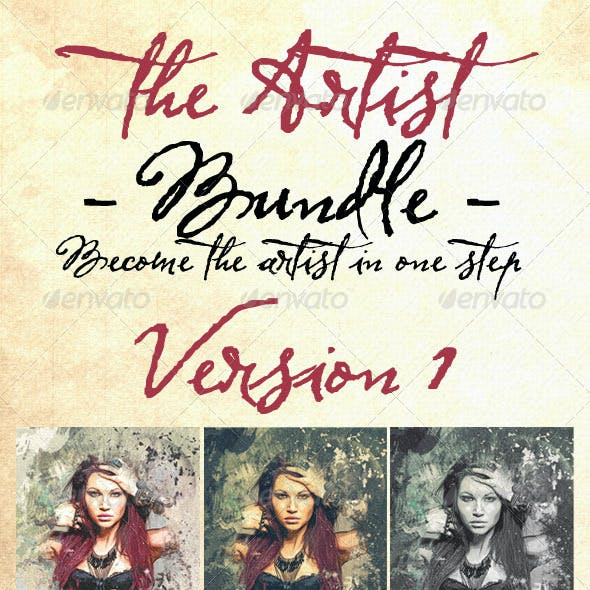 The Artist - Bundle - PSD Photo Templates