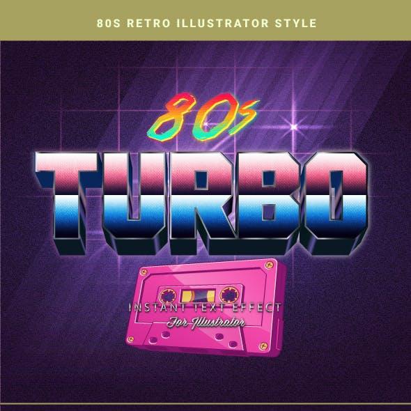 80s Retro Text Effects for Illustrator V2