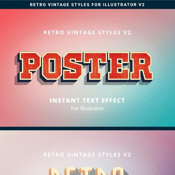 Retro Vintage Text Effects v2