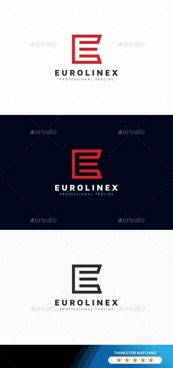Eurolinex E Letter Logo - Letters Logo Templates