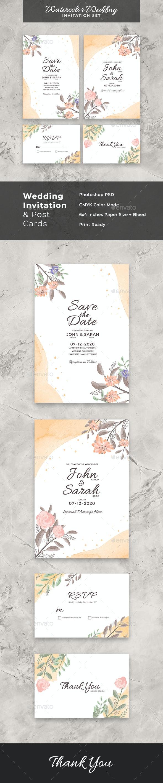 Wedding Invitation Templates Vol 1 by DendySign | GraphicRiver