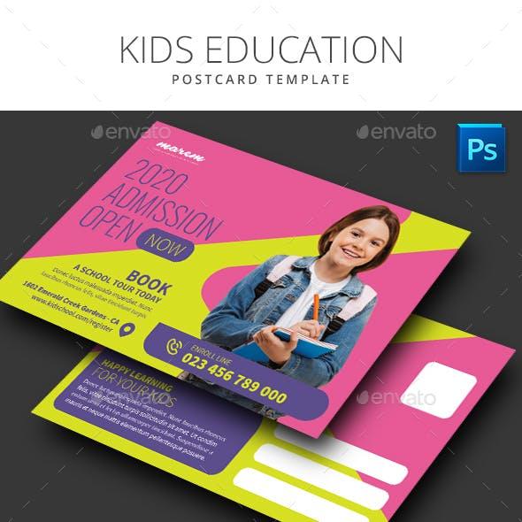 Kids Education Postcard