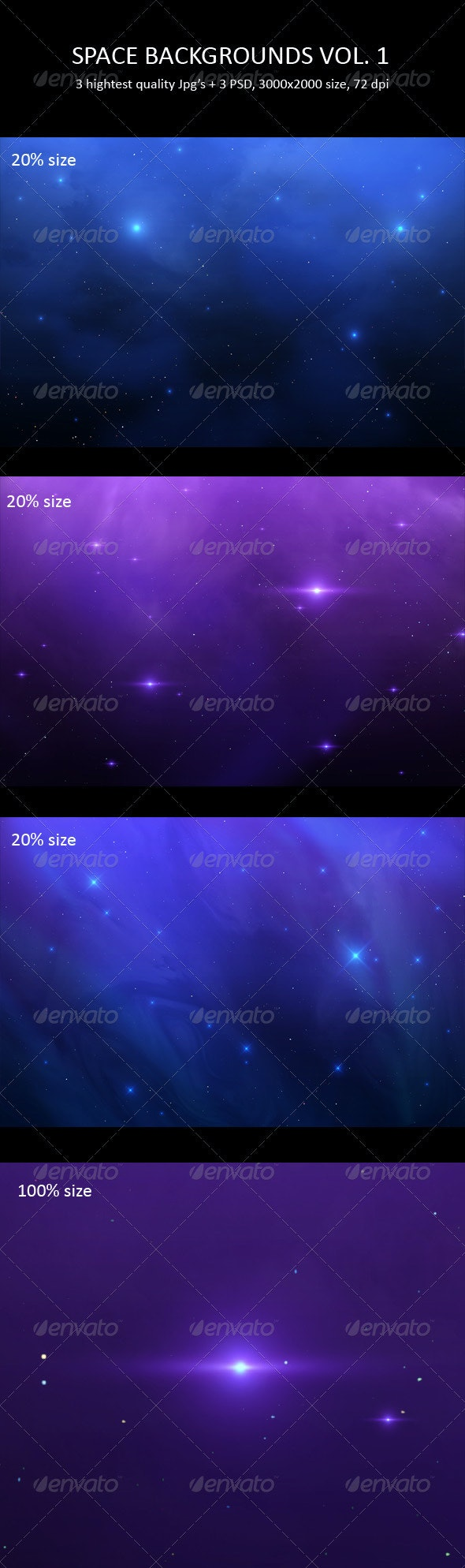 Space Backgrounds Vol. 1 - Backgrounds Graphics