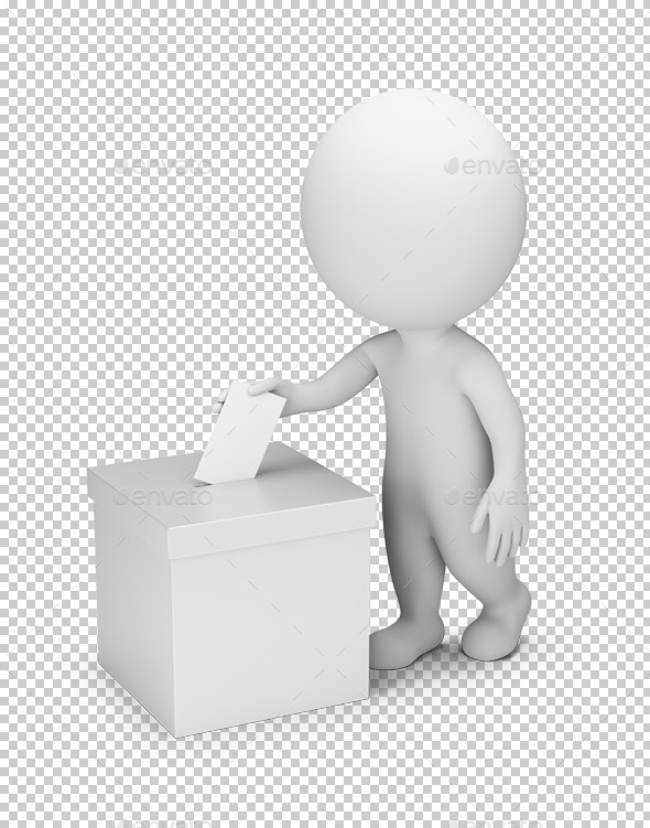 3D Small People - Voting - Characters 3D Renders