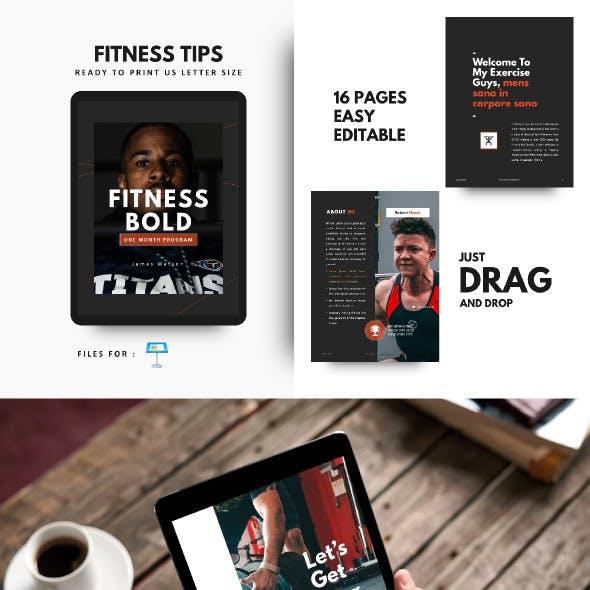 Fitness Bold eBook Template Keynote