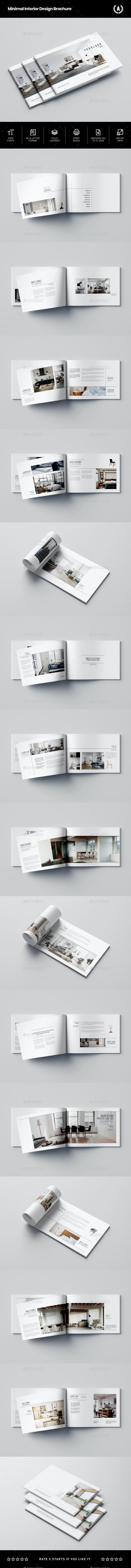 Minimal Interior Design Brochure - Brochures Print Templates