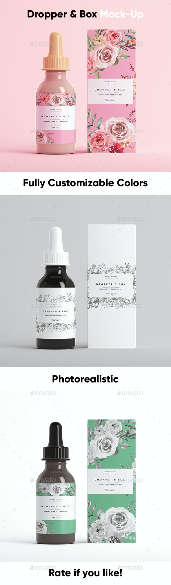 Dropper Bottle Mock-Up 1 - Beauty Packaging