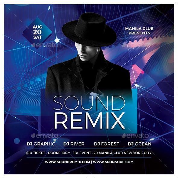 Sound Remix Flyer