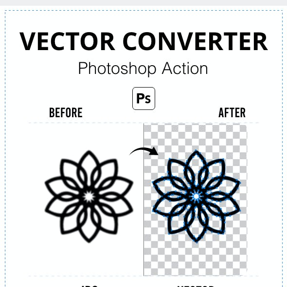 Vector Converter Photoshop Action