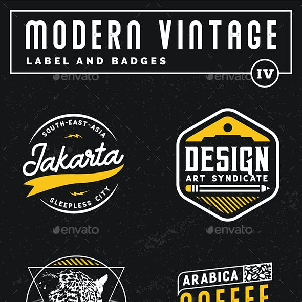 Modern Vintage Label and Badges Vol 4