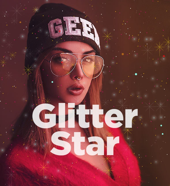 Glitter Star Photoshop Action - Photo Effects Actions