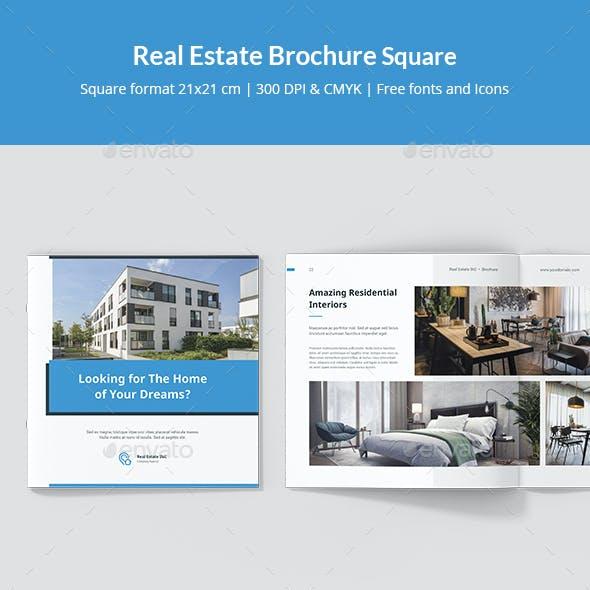 Real Estate Brochure Square