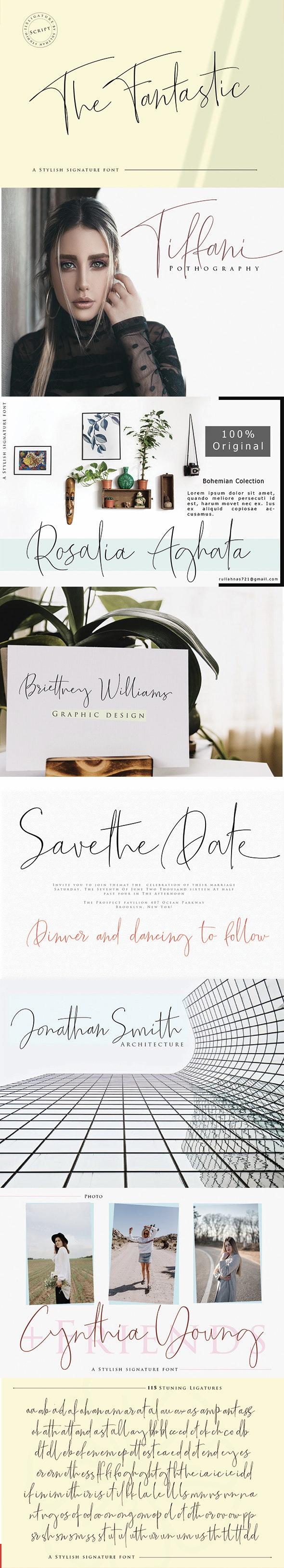 The Fantastic - Script Fonts