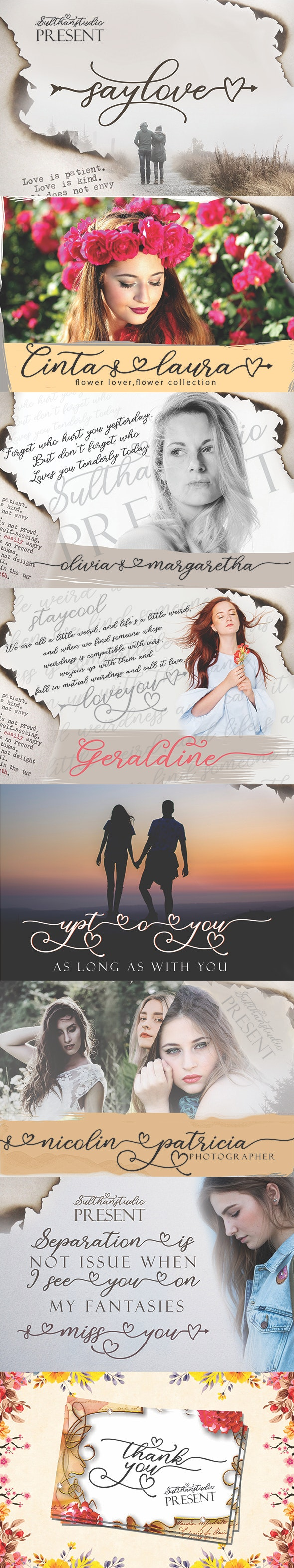 Say Love - Script Fonts