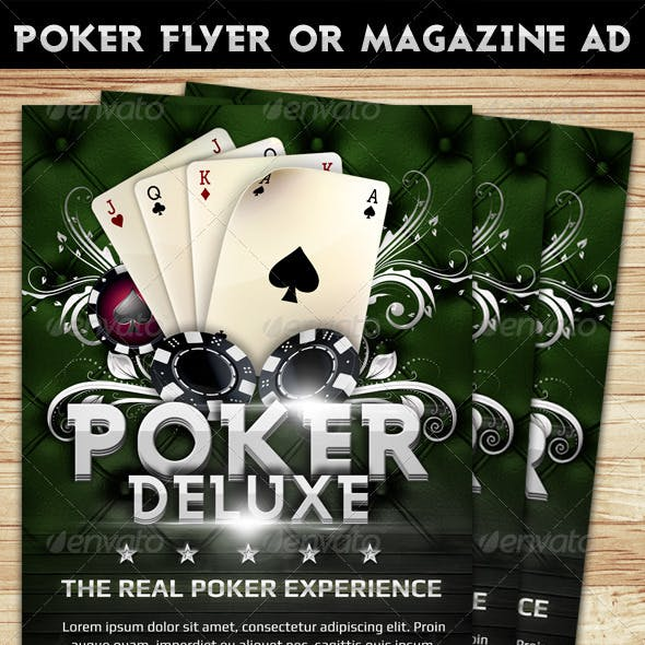 Poker Magazine Ad or flyer Template 4