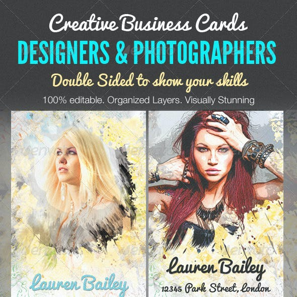 Creative Business Cards - Designer &Photographer