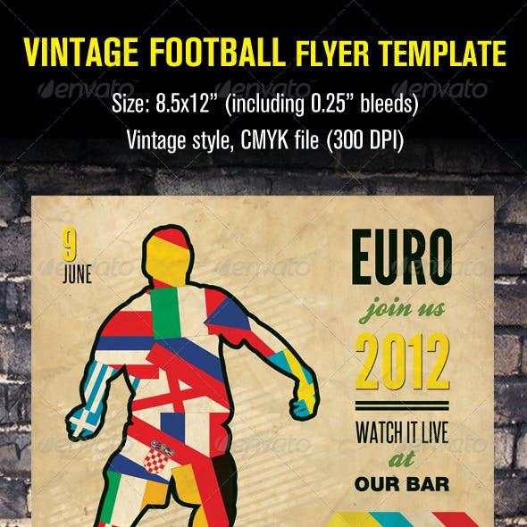 Vintage Football Flyer Template