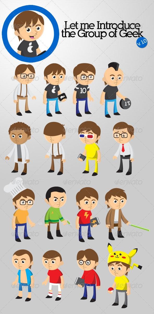 Group of Geek - Characters Vectors