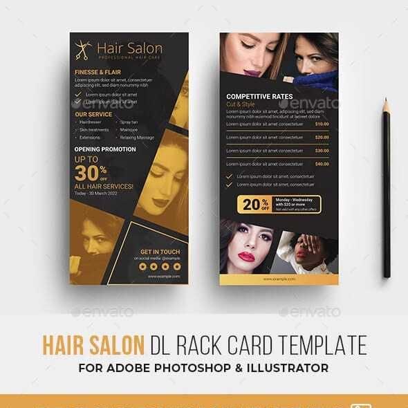 Hair Salon DL Rack Card