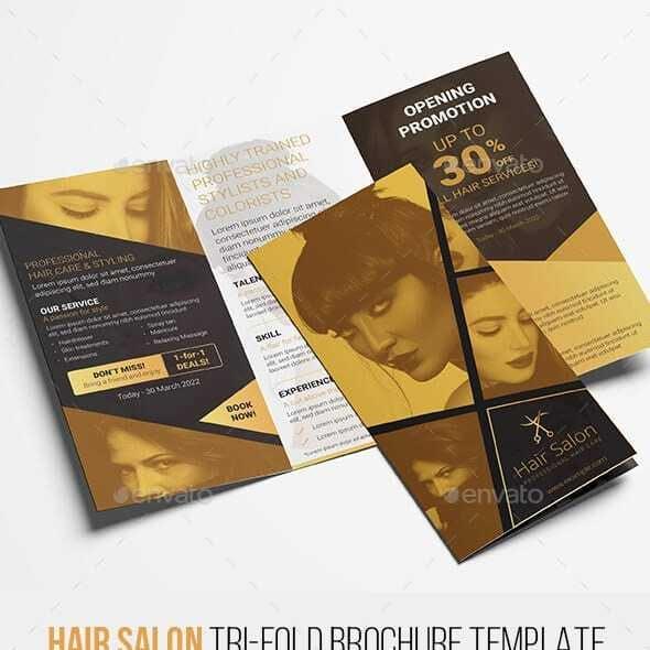Hair Salon Tri-Fold Brochure