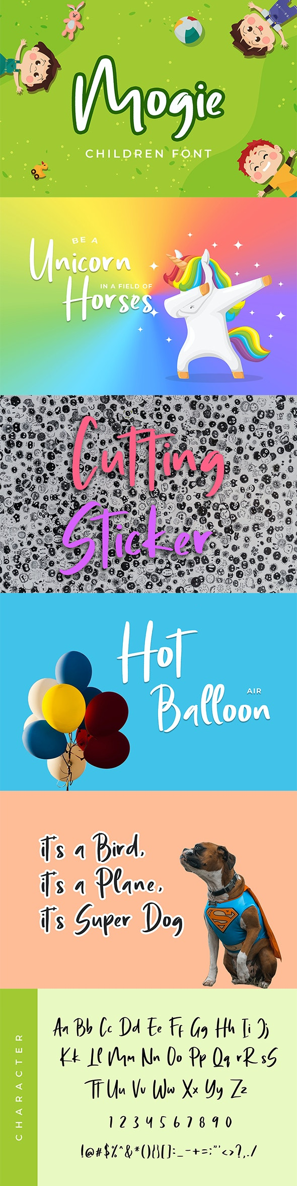 Mogie Cute and Amazing Display Font - Handwriting Fonts