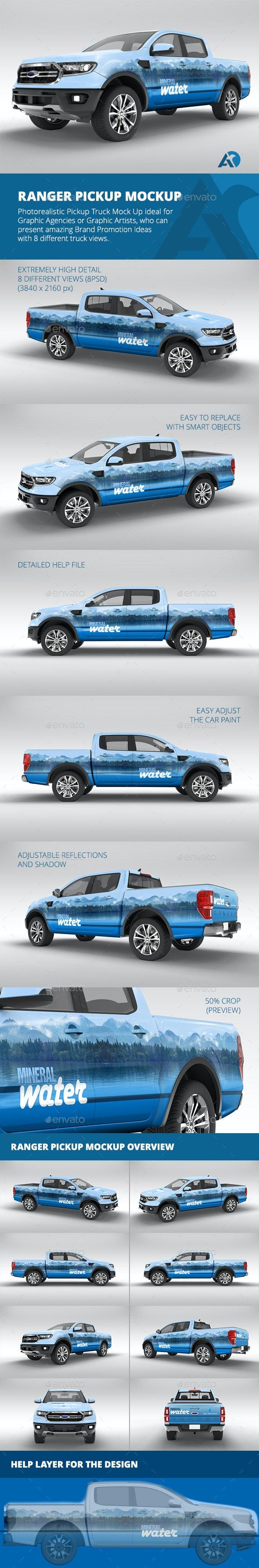 Ranger Pickup Mockup - Vehicle Wraps Print